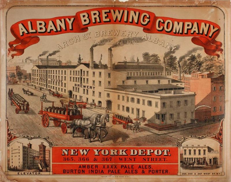 Albany Brewing Company Lithograph