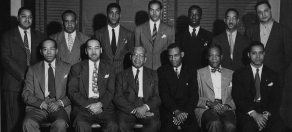 The Beta Pi Lambda Chapter of Alpha Phi Alpha, Inc.  Albany NY.   Dr. Willam F. Brown (front row, second from left) was a founding member of the local chapter